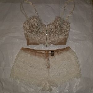 Victoria Secret pajamas Bridal Lace bra and short